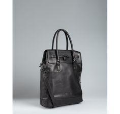 Ben Minkoff   black leather 'Milo' padlock tote