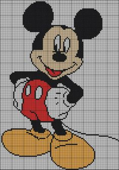 mickey mouse ...would like to try making afghan out of this croos stitch pattern