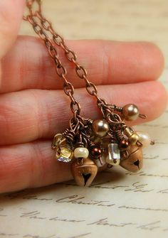 Ring in the New Year! Tiny Copper Jingle Bells with  by AllowingArtDesigns, $20.00