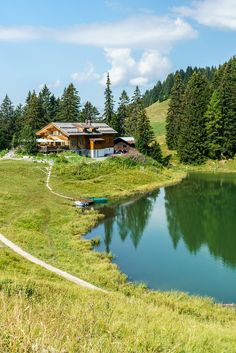 Seen, Cabins In The Woods, Planet Earth, Switzerland, Golf Courses, Travel Destinations, Hiking, Outdoor, River