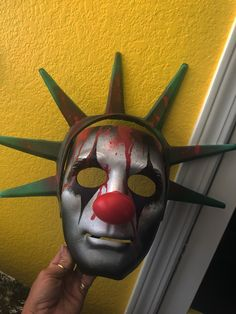 Excited to share this item from my shop: Purge Clown Mask Sarah Robinson, Clown Mask, Carnival Of Venice, Make Ready, Masks For Sale, Steampunk, Masquerade, Craft Supplies, Horror