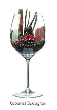 CABERNET SAUVIGNON: Rote Johannisbeere, Grüne Paprika, Vanillestange, Tabak, Bitterschokolade, Kaffee, Speck