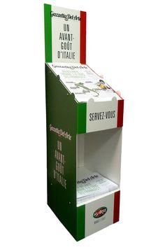 Lutrin Gazzetta  - Del Arte / Photo: Beausoleil France #presentoir #PLV #journal #tabloid #restaurant #pizzeria #Italie