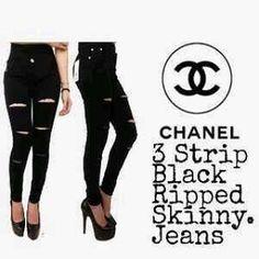 """""""""""Celana jeans HW CHANEL Material: soft jeans Harga: 145 Warna: hitam Order PIN CS1-5A1F32FA PIN CS2-5FI5DE72 & SMS/WA 087722-575-101  Reseller & Dropship Welcome!  Happy Shopping! :) #jamtangan #jamtanganwanita #jammurah #grosirjam #swetercouple #flatshoes #jamtanganterbaru #resellerjamtangan #taswanita #sneakerscwe #celanajeansripped #jamtanganartis #olshop #wedgesterbaru #jaketjeans  #resellerwelcome #celanajeans #sepatubandung"""