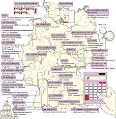 Deutschlandkarte: Wo wohnt der Durchschnitt? Planer, Insight, Germany, Bullet Journal, Map, Cartography, Brandenburg, Interesting Facts, Location Map