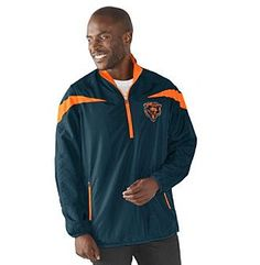 G-III NFL® Chicago Bears Men's Tailback 1/2 Zip Pullover