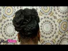 Natural hair protective style: Twisted faux bun