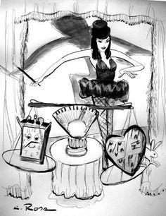 ILLUSTRATION i created for Teri Hatcher's book BURNT TOAST. the book was #4 on the best seller's list---i did 13 illustrations for it