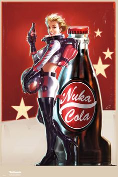 Fallout 4 Nuka Cola 1 - Official Poster. Official Merchandise. Size: 61cm x 91.5cm. FREE SHIPPING