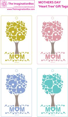 Beautiful Free printable Mother's Day 'tree heart' gift tags to add that finishing touch to a special present.