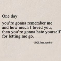 Yes..One day......L.Loe
