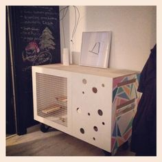 Fancy Pallet Rabbit Hutch - Clearly Drew will have to build this for the boys' rabbits! Description from pinterest.com. I searched for this on bing.com/images