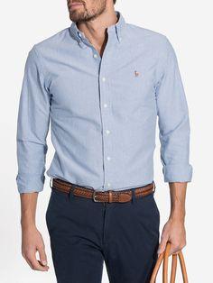 Ralph Lauren Hombre, Polo Ralph Lauren, Blue Oxford Shirt, Polo Shirt Outfits, Mens Fashion Blazer, Casual Wear For Men, Summer Shirts, Mens Clothing Styles, Casual Shirts