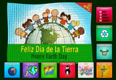 Earth Day/Dia de la Tierra online games in Spanish from OnlineFreeSpanish.com