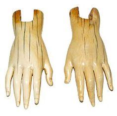 Antique Santos hands....LOVE EM!!