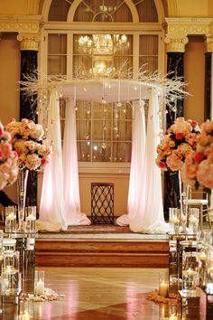 what a romantic wedding ceremony