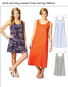 Quick and Easy Summer Dress Sewing Patterns Summer Dress Sewing Patterns for Women and girls