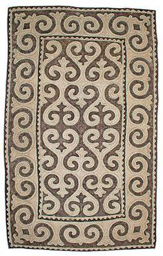 Felt - unique shyrdak felt rugs - Rugs 1.5m x 2.5m