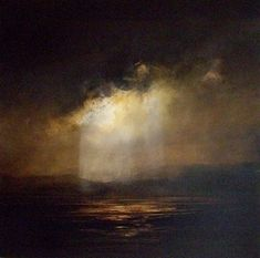 David Taylor - Lake with Moonlight Fantasy Paintings, Seascape Paintings, Landscape Art, Landscape Paintings, David Painting, Illustration Art, Illustrations, Nocturne, Beautiful Paintings