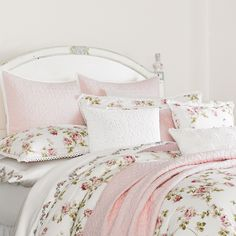 Piper & Wright Rosalie Crochet-Trimmed Floral & Striped ...