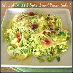 Shaved Brussels Sprout and Bacon Salad