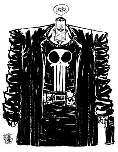 #DailySketch Punisher. Got inspired by @ryanstegman and his Punisher warmup. Original sketch available in my shop http://skottieyoungstore.bigcartel.com
