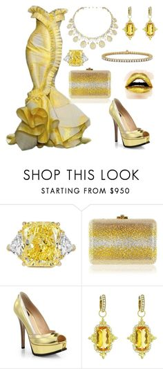 """Canary"" by donnalynnginn ❤ liked on Polyvore featuring Bulgari, Judith Leiber, Fendi, JudeFrances and Blue Nile"