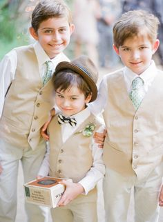 #RingBearers - Too Cute for Words! On SMP - http://www.stylemepretty.com/2014/01/09/bohemian-inspired-california-wedding-at-holly-farm/ Lexia Frank Photography