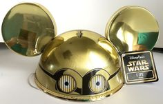 Amazon.com : Disney Parks Mickey Mouse Ears C3PO Hat NEW Adult Size : Everything Else