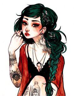 Jade Girl Print