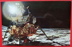 Apollo 14 Sun Reflecting Off the LEM Moon Landing Postcard