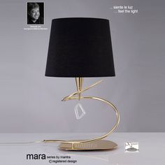 Mantra M1650FG Mara 1 Light French Gold Switched Table Lamp