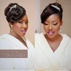 @adeolajames looking like perfection with hair by @hairbysleame and makeup by @beautyandthebeholdermakeovers  #bride #bridal #bridalinspiration #weddings #idonigeria