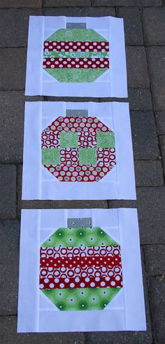 Christmas quilt blocks | christmas ornament quilt blocks | Christmas Crafts