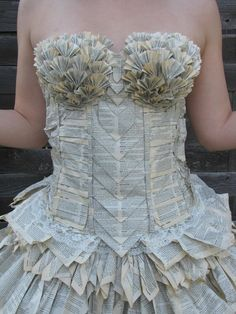 21-year-old Jori Phillips crafted a  dress made entirely out of the pages of a thesaurus to wear to her hometown's Readers and Writers Festival in Canada.