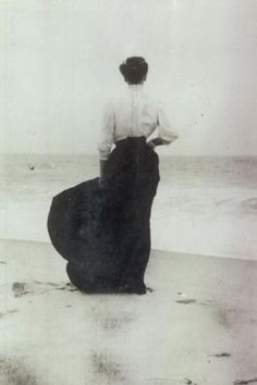 Early 1900's- this was the appropriate attire for the beach.
