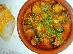 Delicious mushrooms in a garlicky smoked paprika and sherry sauce