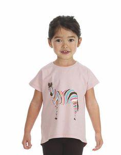 Oudroze Zebra T-shirt - Filemon Kid