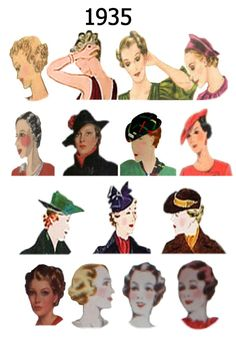 fashion hairstyles, Hat and Hair Styles Fashion History 1930 : Fashion Gallery 1930s Fashion, Vintage Fashion, Fashion Hats, Fashion Rings, Loki Cosplay, Retro Updo, Vintage Glamour, Vintage 70s, Vintage Trends