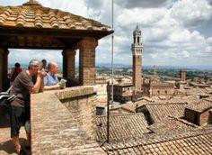 Vistas panorámicas de Siena desde el Panorama del Duomo