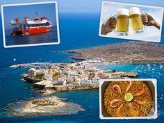 Ferri Alicante/Tabarca y comida en restaurante típico de la isla