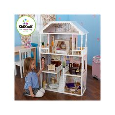 The Savannah Dollhouse is one of our most elegant dollhouses to date and full of traditional features. It fits full sized barbie dolls, enabling little girls to play with all their favorite dolls. Wooden Dollhouse, Dollhouse Furniture, Barbie Furniture, Barbie Doll House, Barbie Dolls, Barbie Stuff, Barbie Dream, Toys R Us Canada, Multiplication For Kids