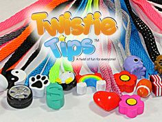 Twistie Tips - A Unique Shoelace Accessory! Fun to Collect! Refresh your sweatshirt or sneaks in twist!
