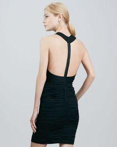 Elaina Leather-T-Back Dress by Alice + Olivia at Neiman Marcus.