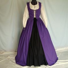RESERVE for NICOLA - Renaissance Dress - Irish Overdress And Underskirt - Custom Made - Medieval Costume Gown, Celtic Faire, SCA, L A R P