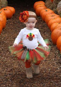 Thanksgiving Turkey Tutu Set.