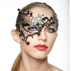 Phantom of the Opera Inspired Masquerade Mask -Made with eco-friendly metal material. -Laser Cut -Beautiful Rhinestones design.  -One size fits most. -Perfect for masquerade balls, weddings, proms, parties, dances, music festivals, raves, Mardi Gras, etc. Accessories