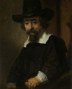 Ritratto di uomo. Presumibilmente Ephraim Buenos, medico ebreo. 1647. Olio su tela. 19x16 cm. Rijksmuseum Amsterdam