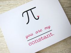 Nerd Anniversary Card. Love Card. You are my constant. by witsicle, $4.00