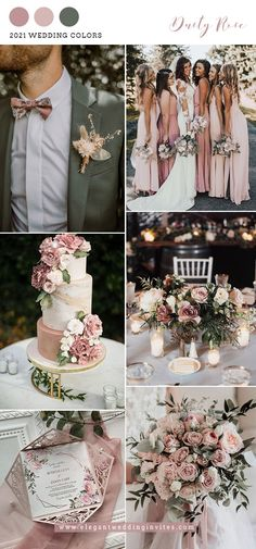 Blush Wedding Colors, Pink Wedding Theme, Wedding Color Schemes, Dream Wedding, Spring Wedding Themes, April Wedding Colors, Rustic Wedding Colors, Vintage Wedding Theme, Colour Themes For Weddings